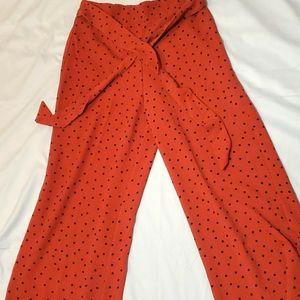 Polka dot dress pants